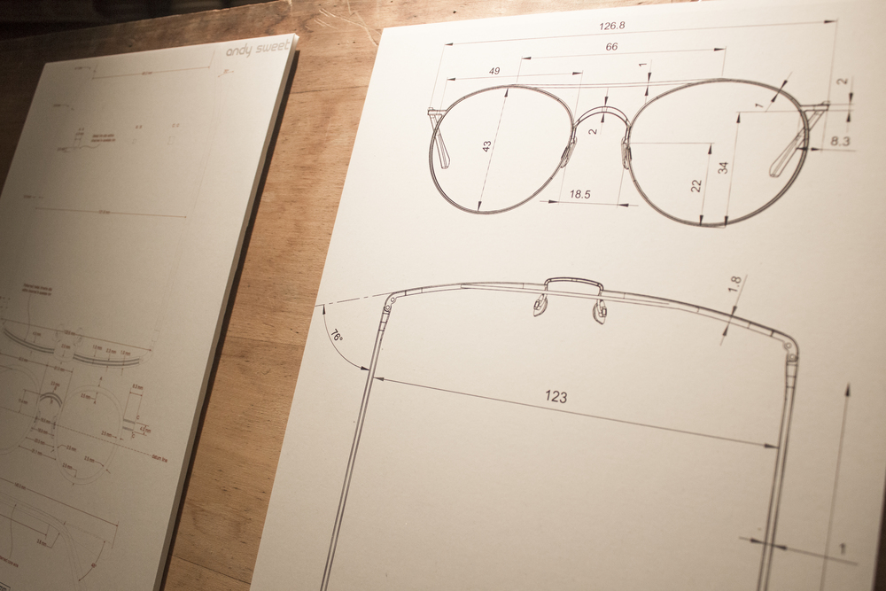 Cubitts glasses eyewear design drawing sketch