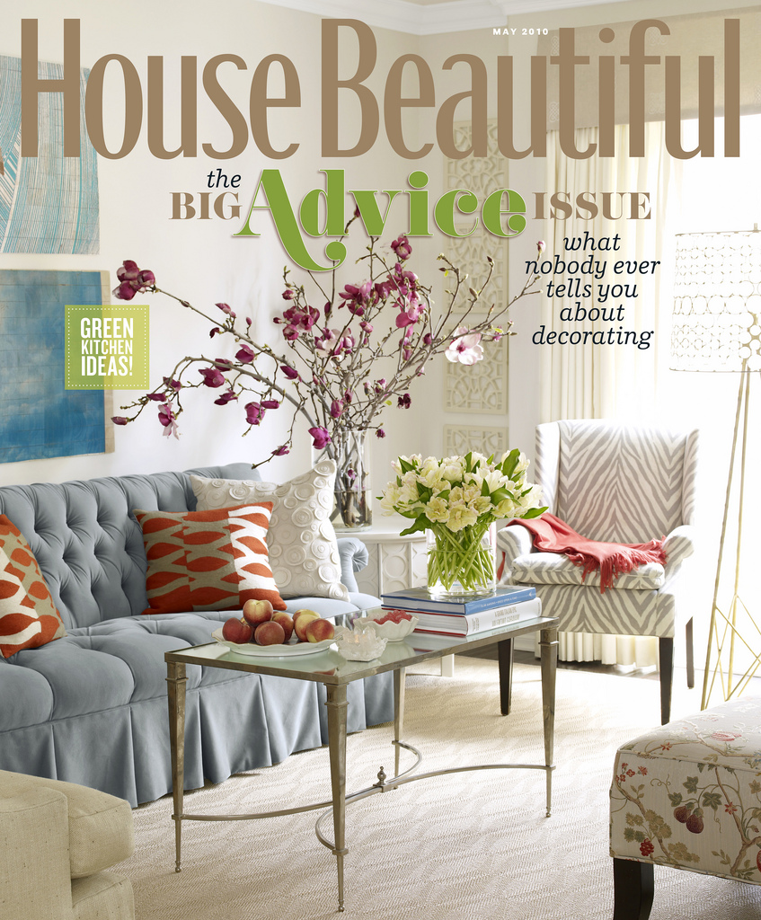 House Beautiful: May 2010 featuring Columns