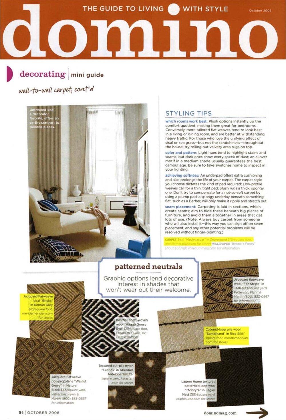 Domino: October 2008 featuring Bricks