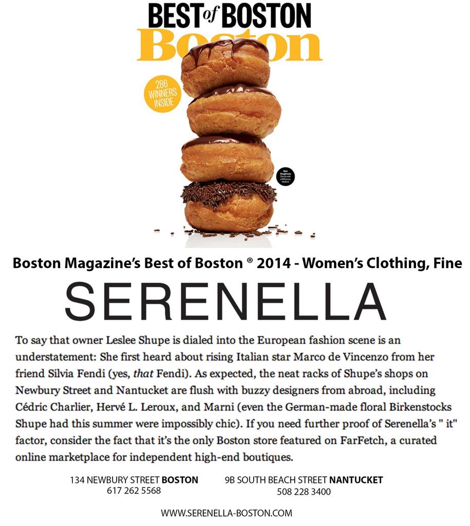BEST OF BOSTON BOSTON MAGAZINE - 2014