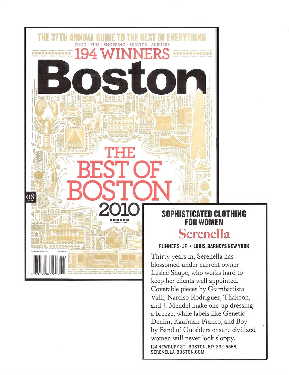 EST OF BOSTON BOSOTN MAGAZINE - 2010