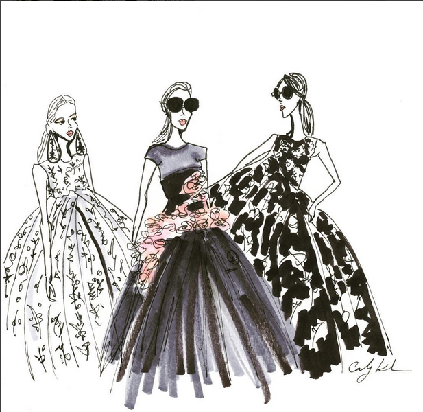 Volume Darlings!  thecartorialist draws up some volume inspiration from giambattistavalli Haute Couture 9