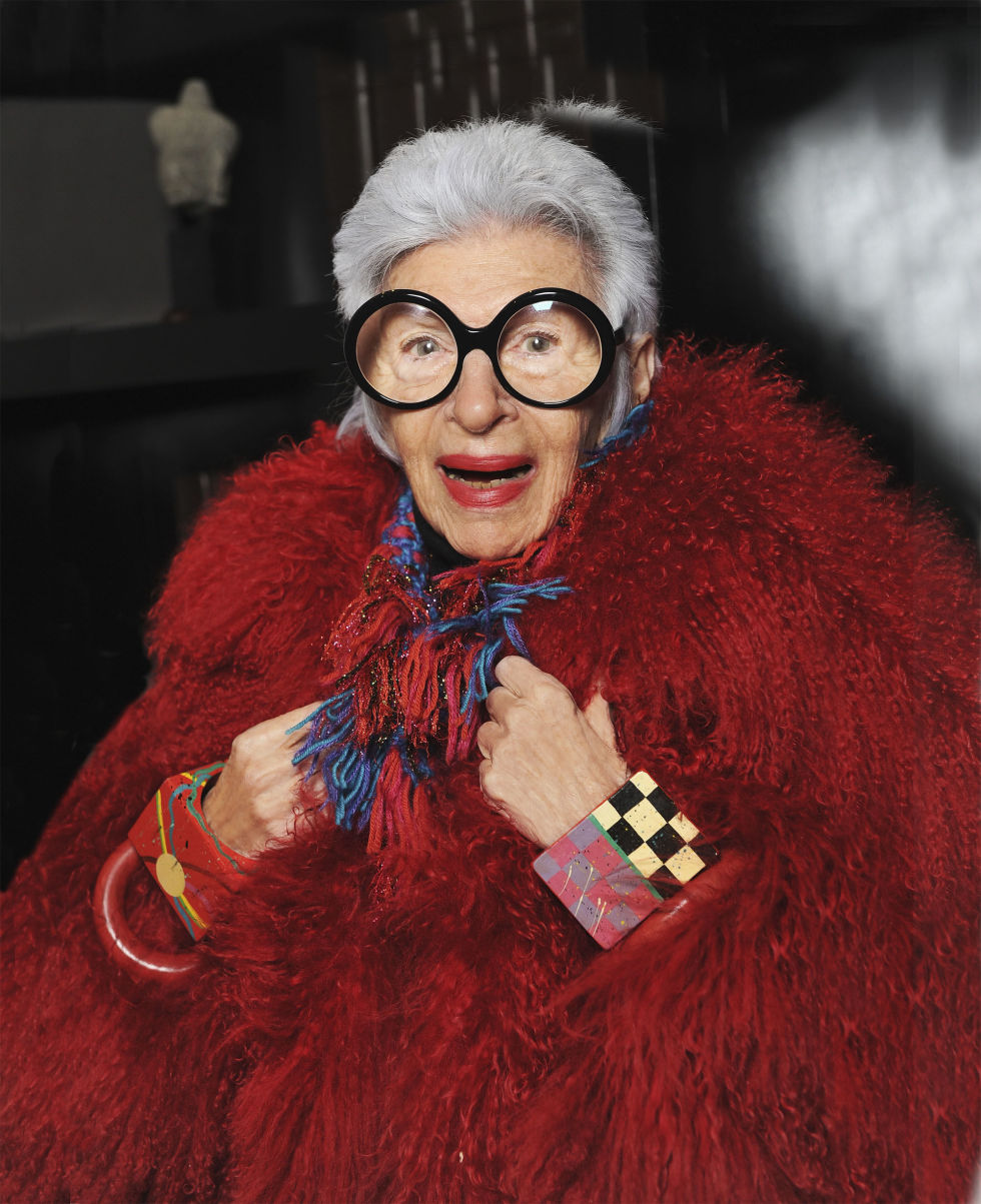 """""""People say it's a trademark, but I never started out to have a trademark. I didn't think I had a trade."""" Inspiration from Iris Apfel in harpersbazaar to help make our Monday a bit brighter. Watch Albert Mayseles' new documentary""""Iris"""" and learn about Apfel's incredibly fashionable life.http://bit.ly/1C0py44"""