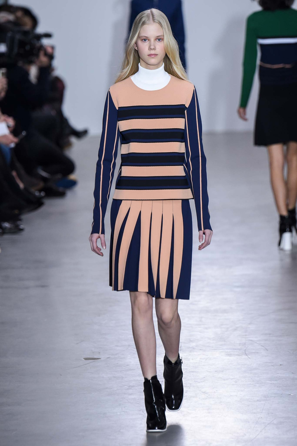 Cedric Charlier brings vibrant hues with sporty shapes to the Fall/Winter 2015 runway during Paris Fashion Week http://stylem.ag/1M99Q7Y