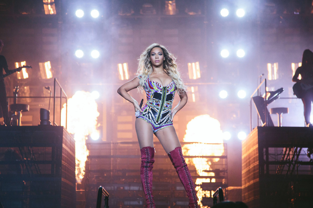 beyonce: The Mrs. Carter Show World Tour London 2014 Look by Pucci Photo Credit: Robin Harper