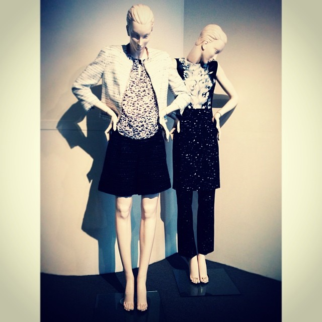 Our mannequins are looking lovely and chic in spring looks by @giambattistapr