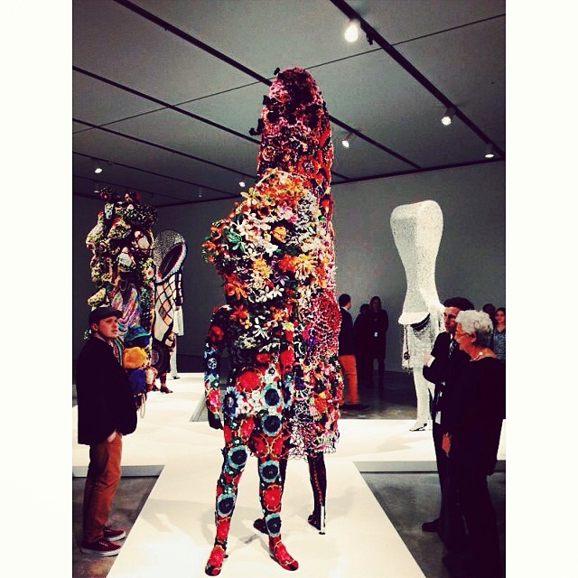 We had a lovely time at the opening of Nick Cave's vibrant exhibit at the ICA last night!