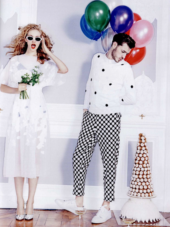 Get happy with this whimsical editorial fromMadame Figaro, featuring Giambattista Valli Official .