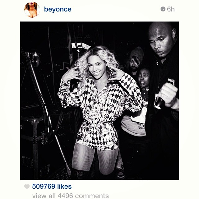 Because we just had to. #Regram from Queen @Beyonce wearing a fabulously graphic @Balmain ensemble.