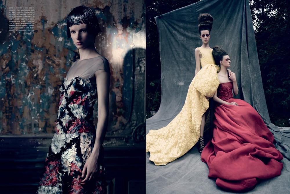 A little Giambattista Valli Official Couture never hurt anyone! Photo via Vogue Italia