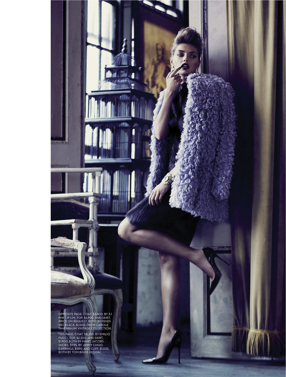 Passing Time: Alina Baikova By Chris Nicholls For Fashion Canada. Coat by Emilio Pucci