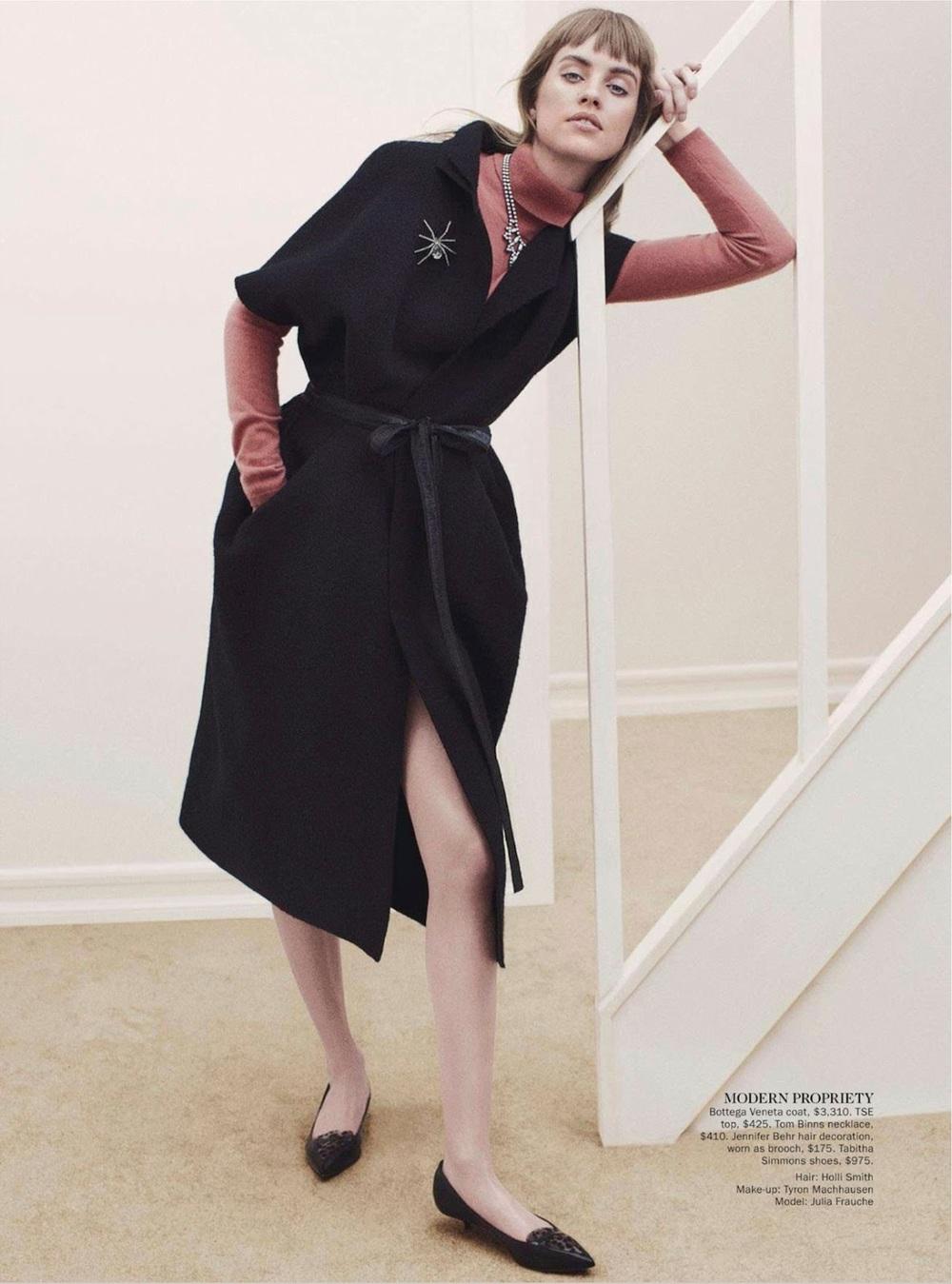 Bottega Veneta coat photo via Vogue Australia