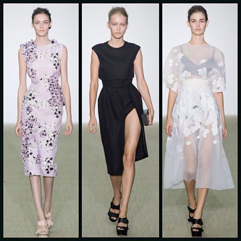 Feminine details and sheer details at Giambattista Valli Spring/Summer 2014 show