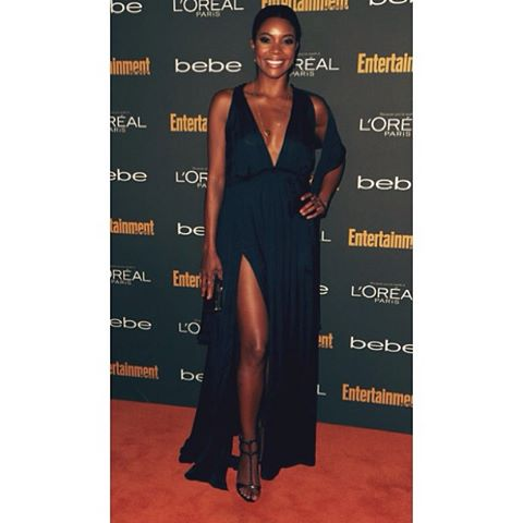 Gabrielle Union wore this gorgeous Balmain dress to entertainment weekly's pre-Emmy party