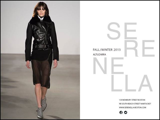 Fall/Winter 2013 Runway Look: Altuzarra jodie skirt with side zipper detail and sheer hem. Available exclusively at Serenella