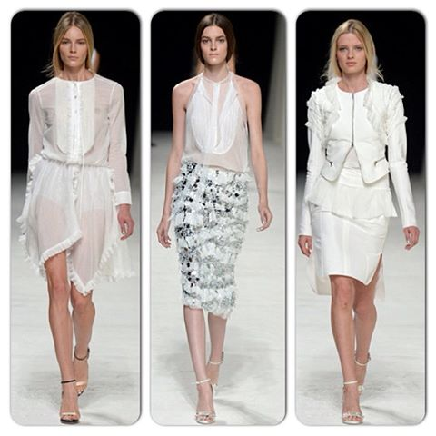 Nina RIcci: all white and mirror details