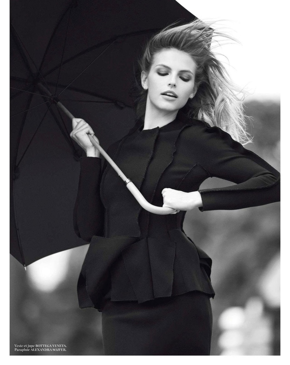Sunny with a Chance of Glamour: Bottega Veneta Jacket. Photo via VOGUE Paris
