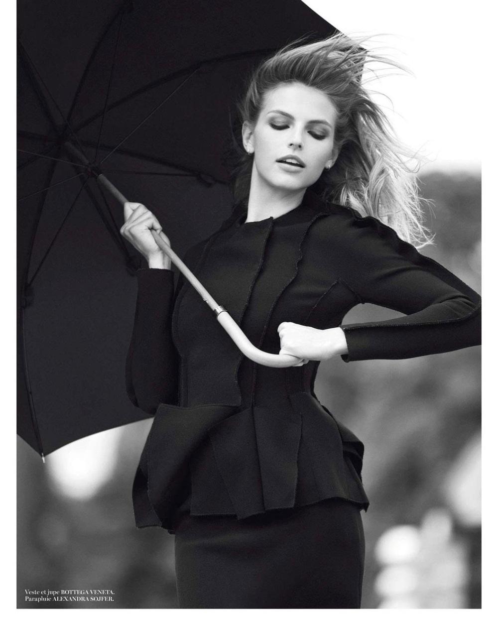 Sunny with a Chance of Glamour: Bottega Veneta Jacket. Photo via VOGUE Paris