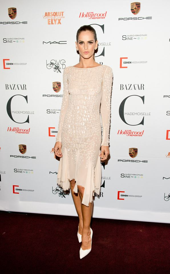 Izabel Goulart recently wore this blush @emiliopucci dress to the Toronto International Film Festival.
