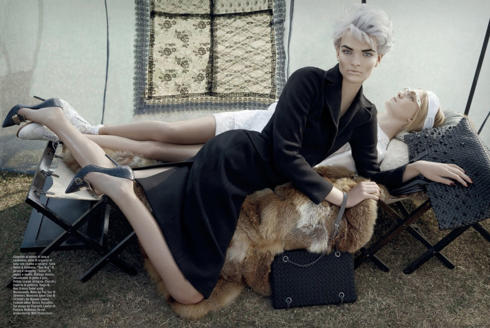 Set The Scene: Classic Bottega Veneta bags featured in Vogue Italia.