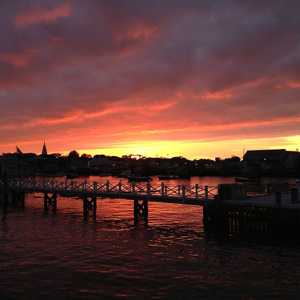 Another beautiful sunset on island. We love you Nantucket.