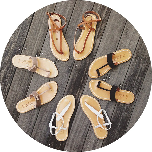 It is a sunny and beautiful day here on Nantucket, and that's a perfect excuse to stop by for a pair of #kjacques sandals!