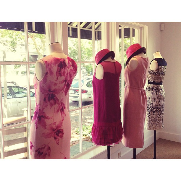 Our @giambattistapr window gals were certainly soaking up the sun in our #nantucket location today.