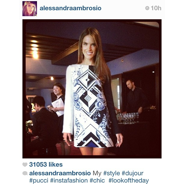 #regram: @alessandrambrosio wears a Pre-Fall @EmilioPucci tunic available exclusively at Serenella