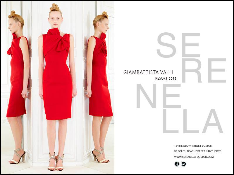 Spring/Summer 2013 Look:Giambattista Valli OfficialRed Sheath Dress with Tie available exclusively at Serenella