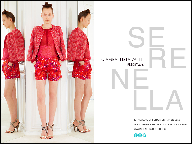 Spring/Summer 2013 Runway Look: Giambattista Valli Floral Print Shorts available exclusively at Serenella