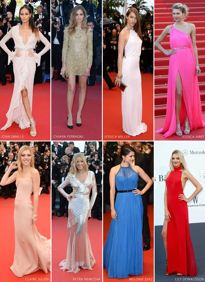 WHO WORE IT BEST: Emilio Pucci at the Cannes Film Festival. On top models like Joan Smalls in a baby pink lace gown, fashion bloggers like The Blonde Salad by Chiara Ferragni in a metallic mini dress, and actresses like Melonie Diaz in a pleated royal blue number, the versatile Italian brand was a celebrity favorite on the red carpet! Which look is your favorite?