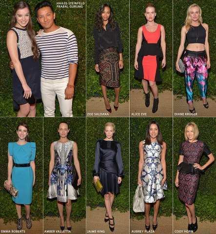 Vogue and MAC Cosmetics celebrated Prabal Gurung last night. The stars attended the dinner party at the Chateau Marmont in Los Angeles dressed in the young designer's creations: Hailee Steinfeld, Zoe Saldana, Emma Roberts, Diane Kruger, Alice Eve, and Aubrey Plaza among many more.