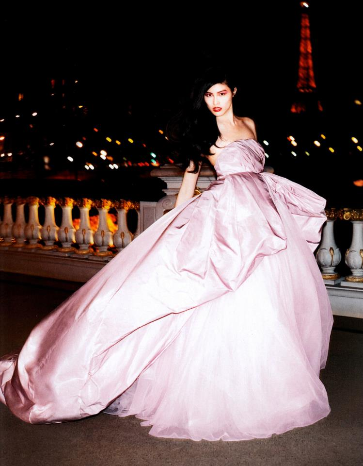 A night out in Paris wearing Giambattista Valli Official haute couture is every girl's dream