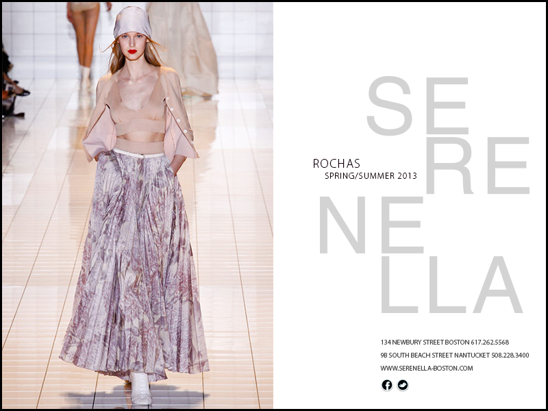 Spring/Summer 2013 Look: Rochas Lilac Print Long Skirt available exclusively at Serenella