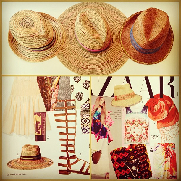Our Lola Hats were spotted in this month's @Wmag and @HarpersBazaarUS!