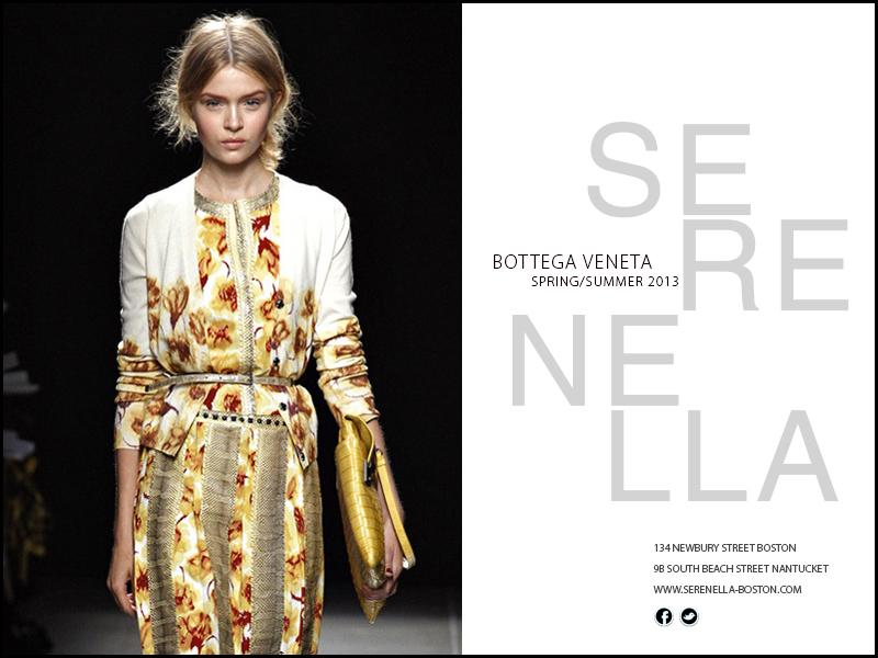Spring/Summer 2013 Look: Bottega Veneta Multicolor Cashmere Tulip Print Sweater sold exclusively at Serenella Boston