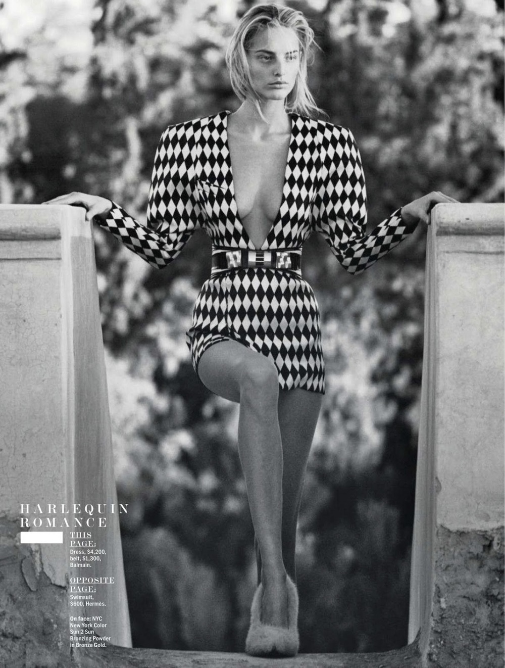 A scandalous Balmain look in the May issue of Marie Claire magazine
