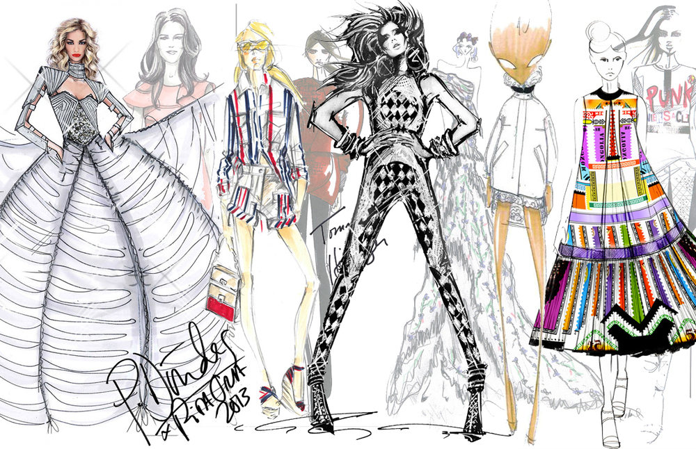 From pen sketches to charcoal drawings, get to know a designer's style through their sketches. See looks from Emilio Pucci, Balmain and Giambattista Valli on paper before they hit the runway on Vogue Paris: http://ow.ly/kfPnV