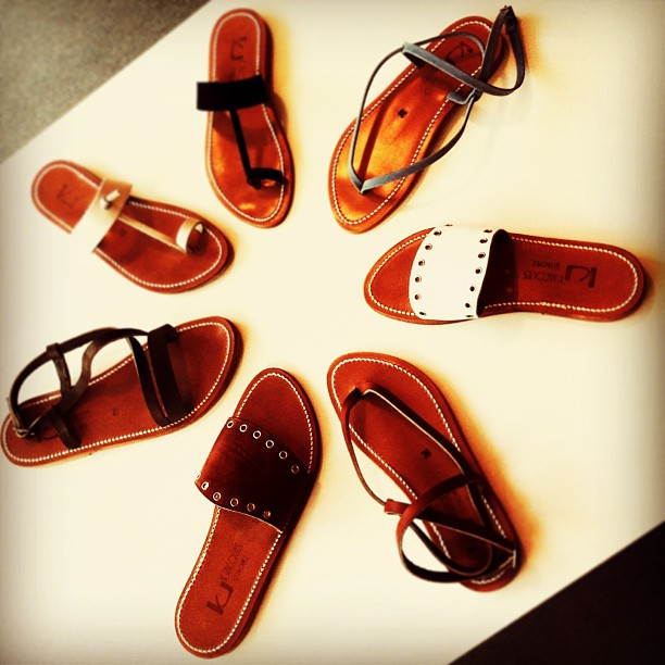 Get ready for summer with K. Jacques leather sandals!
