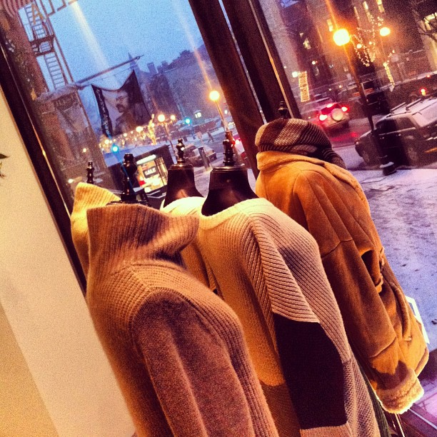 A new window display in light of today's snowfall. Stay warm Boston!