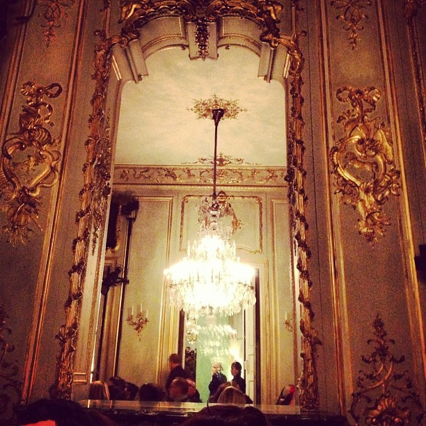 Waiting for the Giambattista Valli #hautecouture show to begin at the Ambassade d'Italie in #Paris #PFW