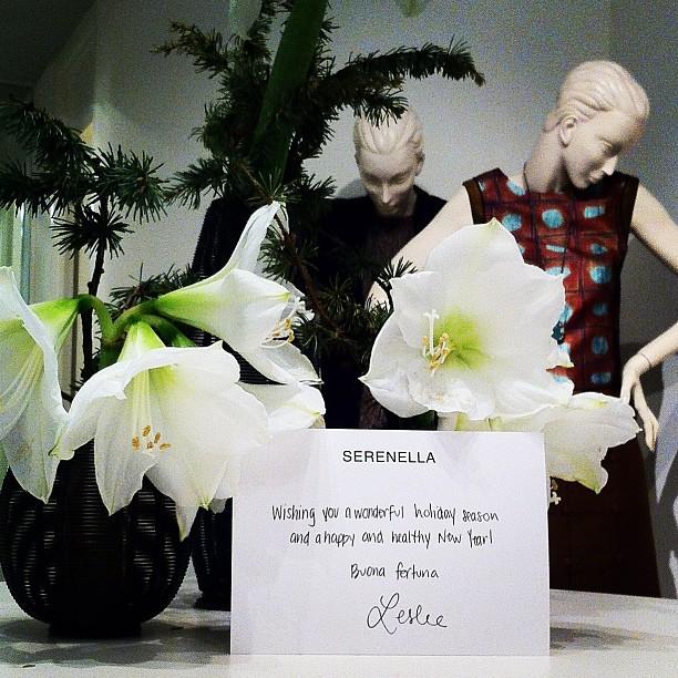 Happy holidays from us to you! Buona fortuna xoxo Serenella