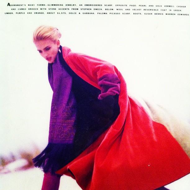 Throwback Thursday: Serenella in Harper's Bazaar circa 1990s #tbt