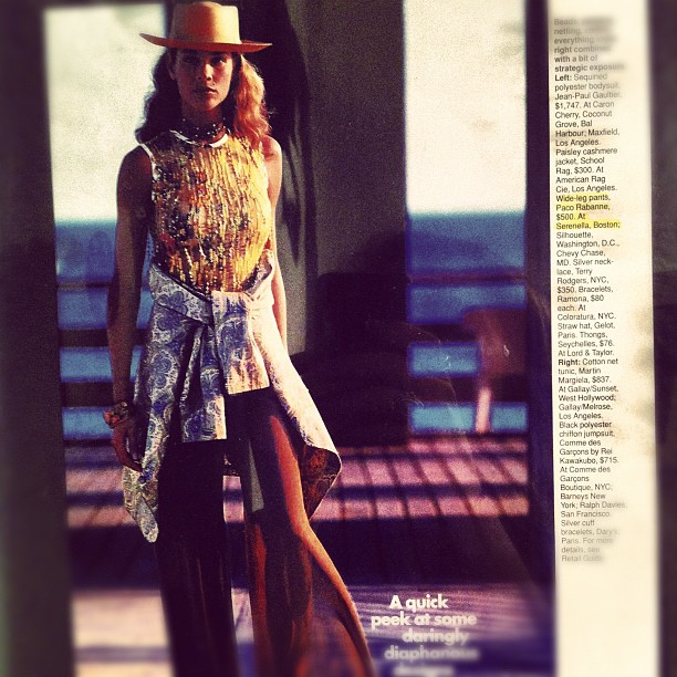 So 90's! Serenella in Elle magazine #tbt #fashion