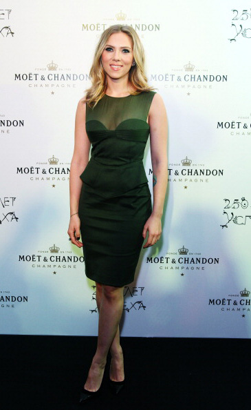 Scarlett Johansson attended the Moet & Chandon 250th Anniversary Party in Moscow last Thursday wearing an Emilio Pucci Resort 2013 dress.