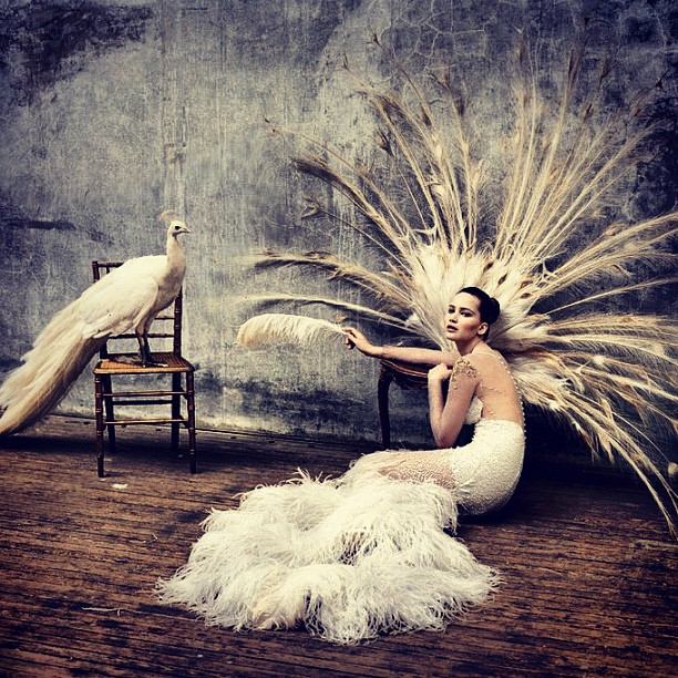 Jennifer Lawrence is White Swan in @prabalgurung for @wmagazine (Taken with Instagram)
