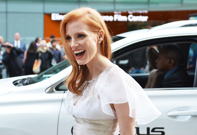 moodyvintage: Jessica Chastain in Prabal Gurung at the CDFA Fashion Awards. I absolutely love this gorgeous woman.