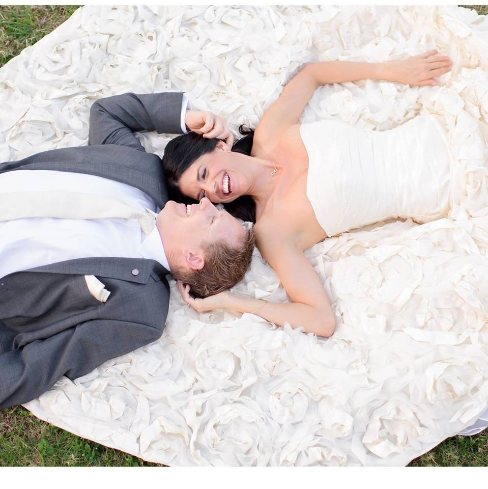 David and his wife, Stephanie on their special day.