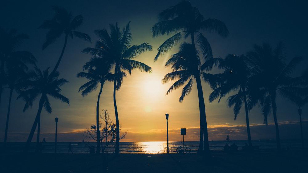 Waikiki Sunset, Honolulu, Hawaii-March 15, 2015-1.jpg