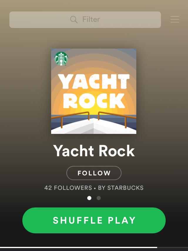 Starbucks + Spotify Yacht Rock Playlist Tile